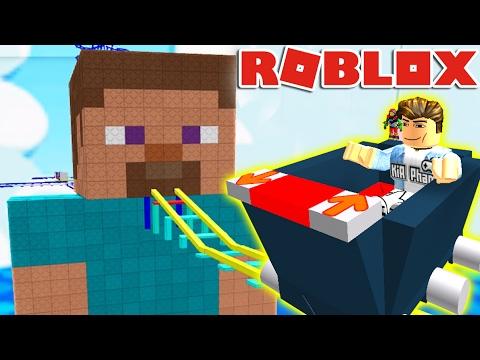 Download Roblox | ĐI TÀU LƯỢN SIÊU CHẬM CÙNG STEVE - Cart Ride | KiA Phạm