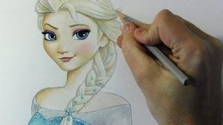 "Drawing Time Lapse: Elsa from ""Frozen"""