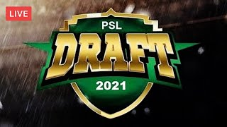 HBL Pakistan Super League Player Draft 2021