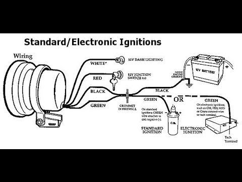 Simple Tach Install for HEI Distributor (re-upload) - YouTube on tachometer installation, tachometer cable, tachometer sensor, circuit diagram, turn signal diagram, tachometer wiring function, tachometer schematic, tachometer repair, koolertron backup camera installation diagram, fuse block diagram, vdo tachometer diagram, tachometer connectors, tachometer wiring list,