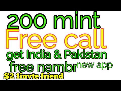 $2free call meke unlimited call anywhere get free India nambr free call anywhere in pakistan