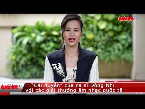 """""""Cái duyên"""" của ca sĩ Đông Nhi với các giải thưởng âm nhạc quốc tế   Truyền Hình - Báo Tuổi Trẻ"""