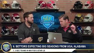 Bettors expecting big season from Alabama, UGA