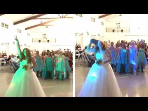Thumbnail: Brave Bride Throws Wig Instead Of Bouquet