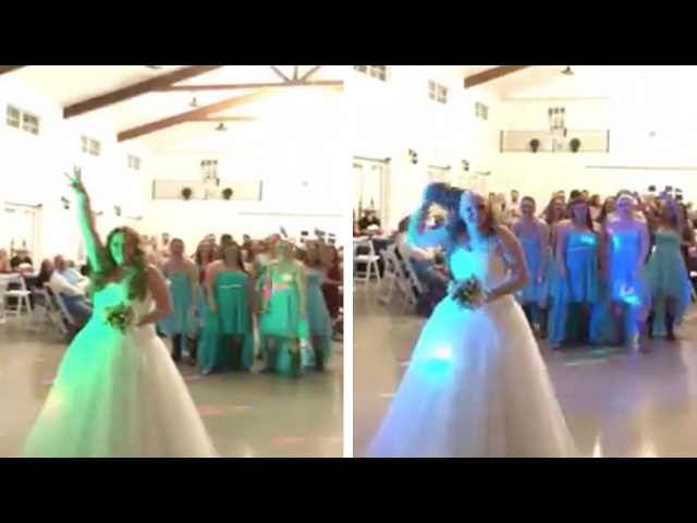 Brave Bride Throws Wig Instead Of Bouquet