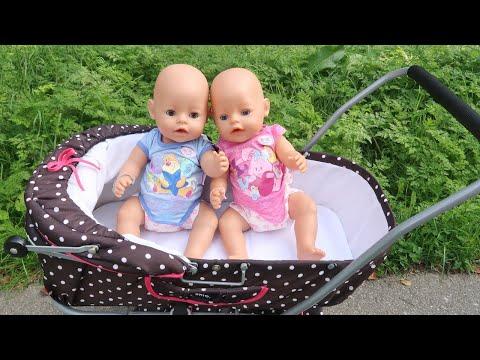 Как Мама, Двойняшки Беби Бон и Реборн Диана Ходили на Прогулку с Коляской Мультики 108мама тв