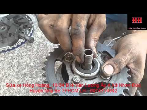 Sửa xe Cùi Bắp_Hướng dẫn thay nhông sên dĩa xe máy_change chain gear
