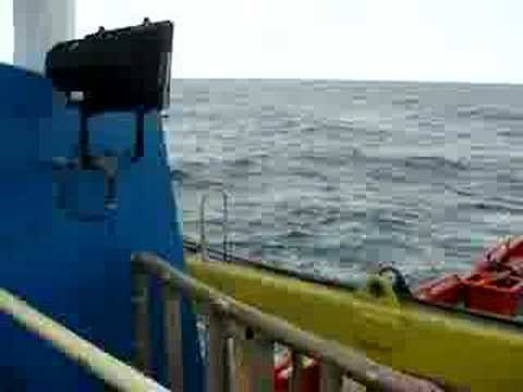 Boat journey to Bonny Nigeria Oil field