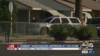 Robbery investigation at Phoenix CVS store