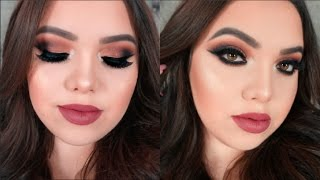 Bronze Cranberry Smokey Fall Makeup Tutorial