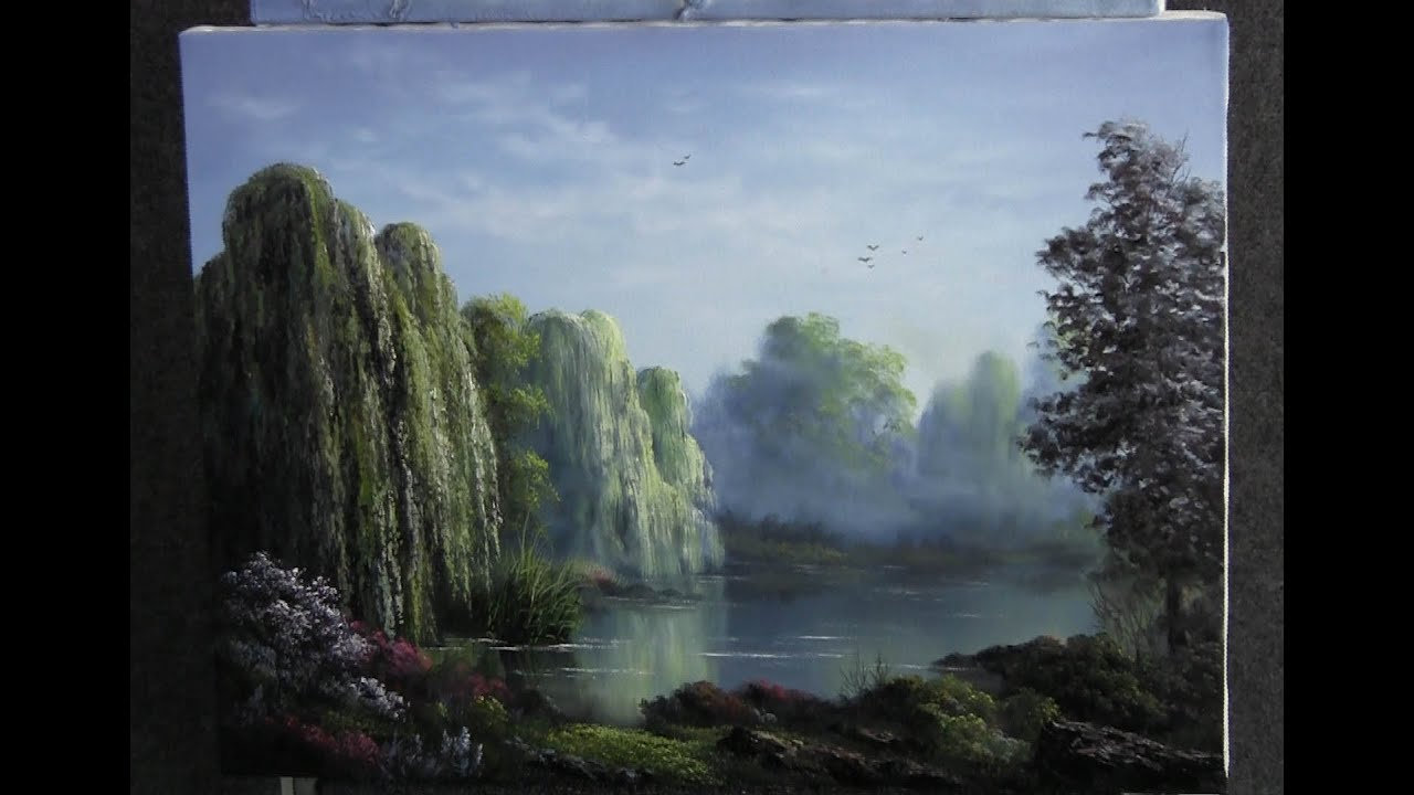 Paint With Kevin Hill Weeping Willows Youtube