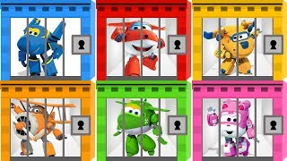 Learn Colors with Super Wings Jail