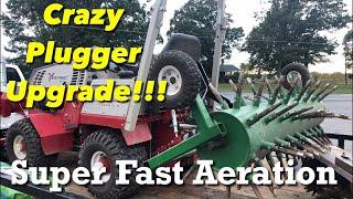 Ventrac Tractor Homemade Dual Aerator Upgrade | Hurricane Flooding