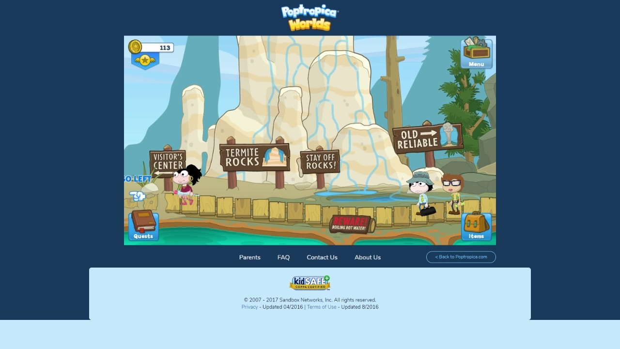 Poptropica Worlds: Completing Crisis Caverns Island