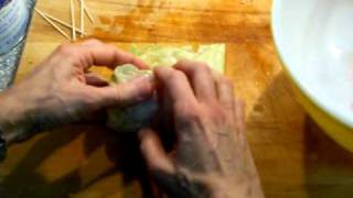 How To Roll Up Stuffed Cabbage Leaves.