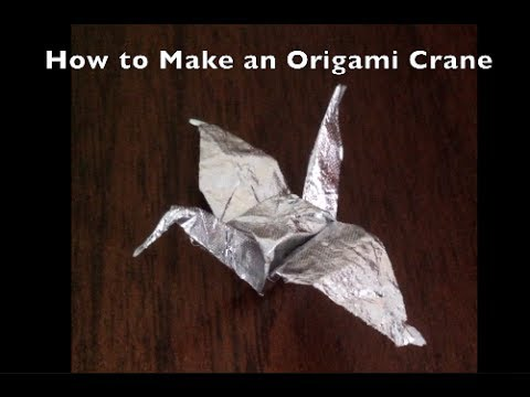 Origami Crane Gum Wrapper - YouTube - photo#1