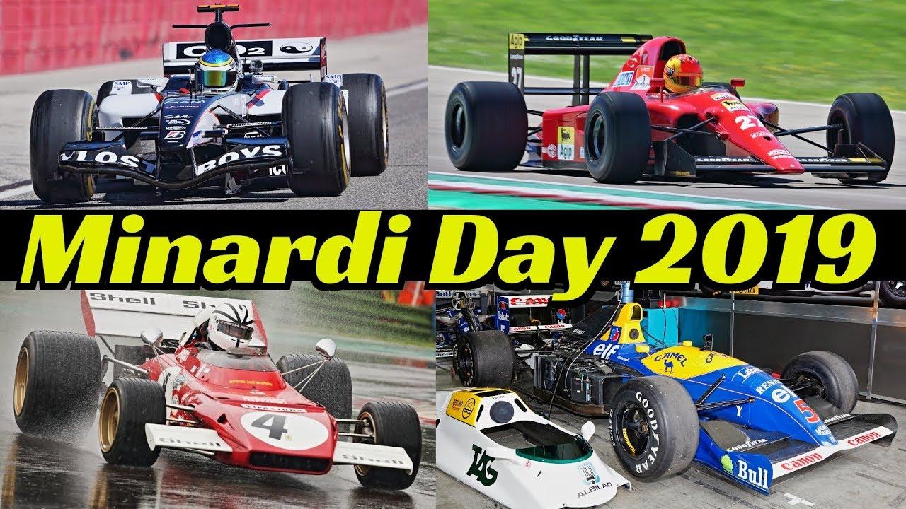 Historic Minardi Day 2019 Formula One [F1] - Williams FW14, Tyrrell P34, Ferrari 93A, 312T, 126C4