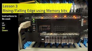 Omron PLC E Learning Lesson 3   Rising and Falling Edge using Memory Bit