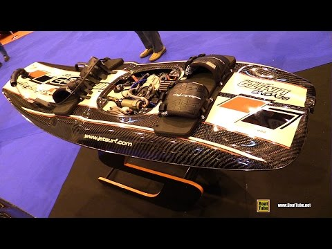 2017 Jet Surf GP100 Jet Powered Surf Board - Walkaround - 2016 Salon Nautique Paris