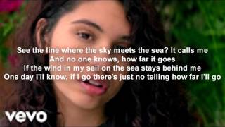 Alessia Cara - How Far I'll Go (Official Lyrics) MOVIE MOANA THEME SONG