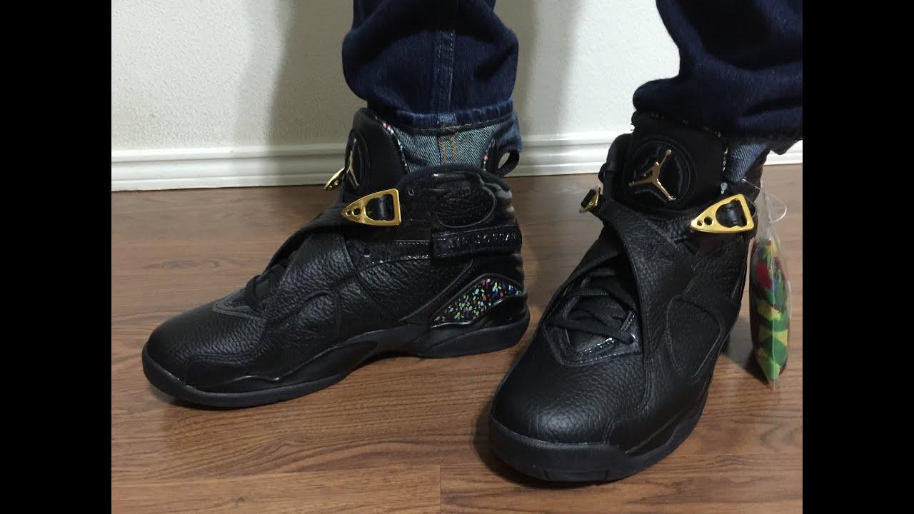 Jordan Retro 8 Black Confetti