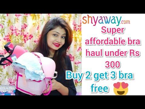 Most affordable lingerie haul | Best online Bras shopping | shyaway Bra haul under Rs 300