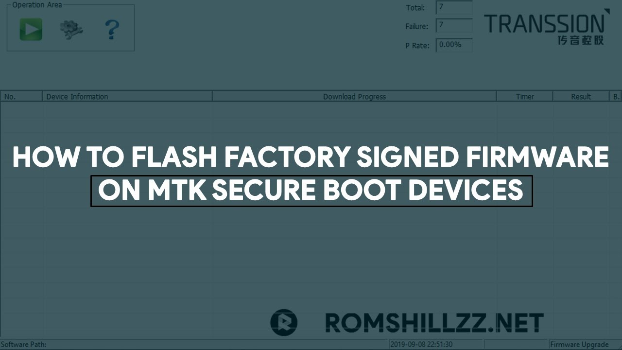 How To Flash Factory Signed Firmware On MTK Secure Boot Devices -  [romshillzz]