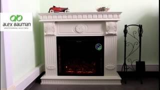 Купить электрический камин Camie, Alex Bauman, электрокамин в итальянском. Смотреть как горит огонь
