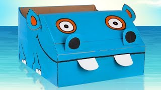DIY Hippo Cardboard Boat | Summer Crafts for Kids