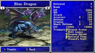 Final Fantasy II Bestiary