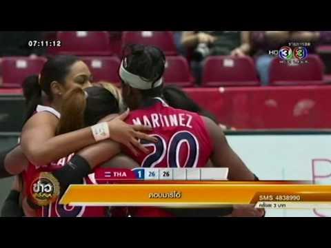 ข่าวเช้าวันหยุด ข่าว ไทย ชนะ โดมินิกัน ในการแข่งขันวอลเลย์บอลหญิงโอลิมปิก (15พ.ค.59)