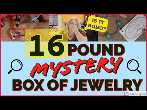 HUGE MYSTERY JEWELRY BOX UNBOXING   16 POUND GOODWILL JEWELRY BOX Opening Unjarring Reveal SILVER