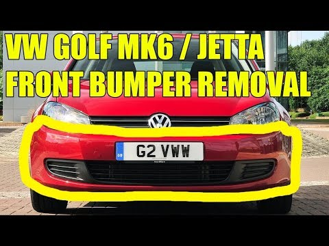 Tutorial Vw Golf Mk6 Jetta 2009 2012 Front Bumper Removal