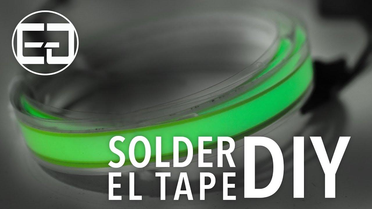 How To Solder EL Tape - Ellumiglow.com - YouTube