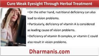 Cure Weak Eyesight Through Herbal Treatment