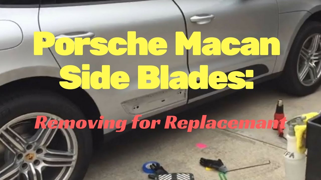 medium resolution of porsche macan exterior side blades removal