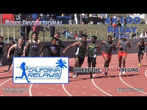 2018 TF - California Relays (Sat) - 4x100 Relay (Boys Invite FINAL)