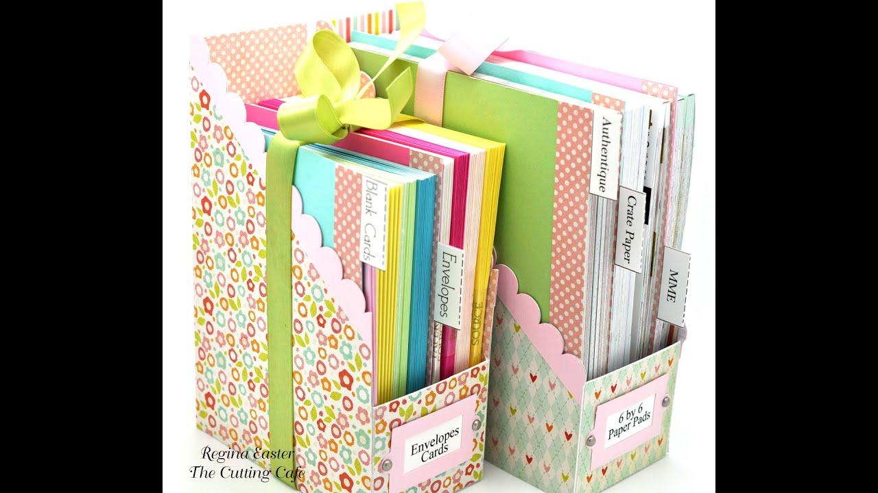 Diy file folder box to organize your stickers youtube - Watch Me Work Wednesdays Episode 36 File Folder Box Holder Set Youtube
