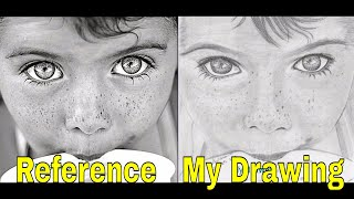 How I Draw Skin Texture for the First Time | Drawing Little Boy