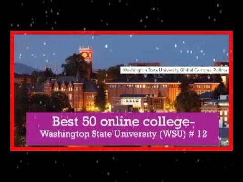 Best 50 online college in usa   Washington State University WSU # 12