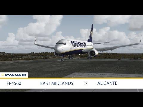 FSX: East Midlands - EMA to Alicante - ALC | PMDG 737 NGX | UK2000