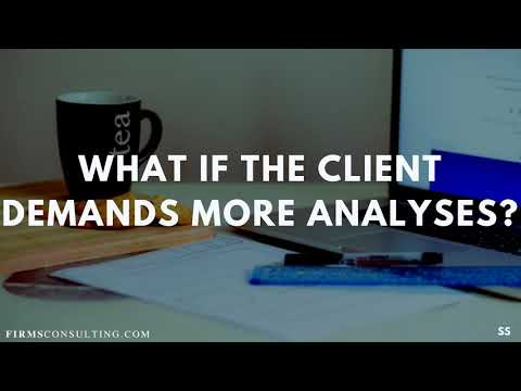 Management consulting - What to do when consulting clients demand more analyses?