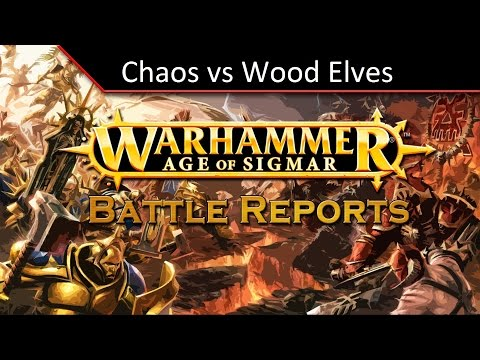 TBMC - Age of Sigmar Video Battle Report (Batrep) - Chaos vs Wood Elves