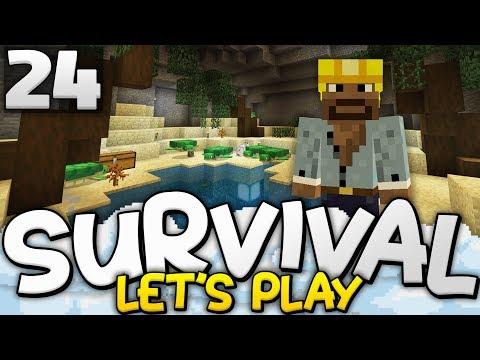 UNDERGROUND TURTLE SANCTUARY!!! - Survival Let's Play Ep. 24 - Minecraft Bedrock (PE W10 XB1)