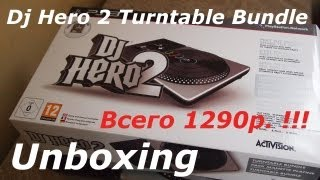 Распаковка Dj Hero 2 Turntable Bundle (Unboxing)