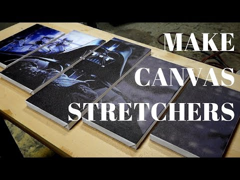 45 min. project - Simple canvas stretchers for cheap eBay canvas