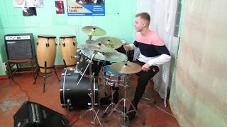 Swing Drum Solo - 12 squares - 48 tacts -  Drummer Daniel Varfolomeyev 15 years
