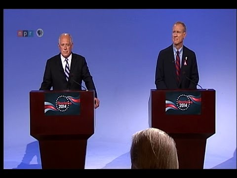 PBS Downstate Gubernatorial Debate - Behind The Scenes- Pat Quinn and Bruce Rauner