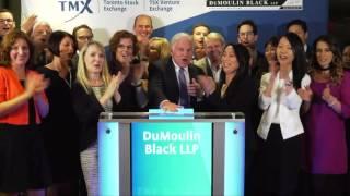 DuMoulin Black LLP closes Toronto Stock Exchange, September 30, 2016