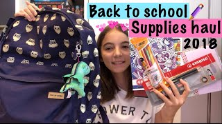 School supplies haul| Ce rechizite mi-am cumpărat 2018